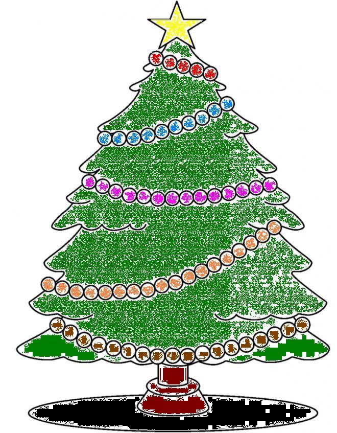 Disegno Stella Di Natale Da Colorare.Disegno Albero Con Stella Di Natale Da Colorare 660 847 Ludus